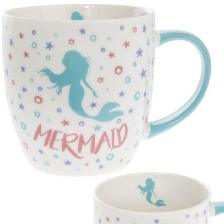 Fine China Aqua Mermaid Mug Gift